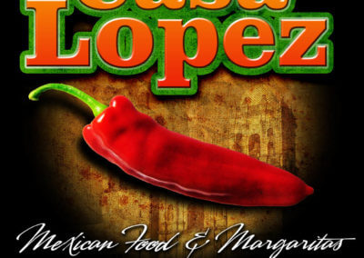 Casa Lopez Mexican Food Shirt Design