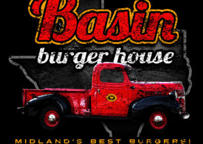 Basin Burger House Shirt Design Midland