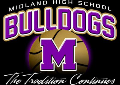 Midland High School Bulldogs Basketball Shirt